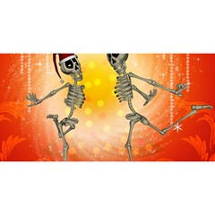 Dancing For Christmas, Funny Skeletons YOU ARE INVITED 3D Greeting Card (8x4)