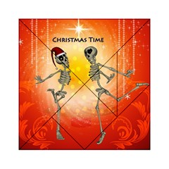 Dancing For Christmas, Funny Skeletons Acrylic Tangram Puzzle (6  X 6 )