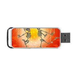 Dancing For Christmas, Funny Skeletons Portable Usb Flash (two Sides)