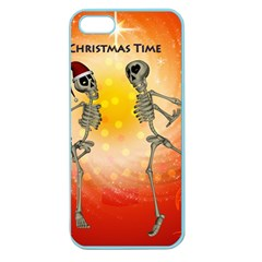 Dancing For Christmas, Funny Skeletons Apple Seamless iPhone 5 Case (Color)