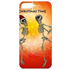 Dancing For Christmas, Funny Skeletons Apple iPhone 5 Classic Hardshell Case