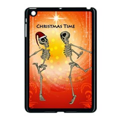 Dancing For Christmas, Funny Skeletons Apple iPad Mini Case (Black)