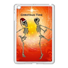 Dancing For Christmas, Funny Skeletons Apple iPad Mini Case (White)