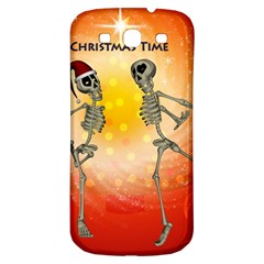 Dancing For Christmas, Funny Skeletons Samsung Galaxy S3 S III Classic Hardshell Back Case