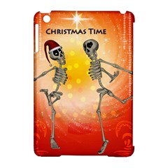 Dancing For Christmas, Funny Skeletons Apple Ipad Mini Hardshell Case (compatible With Smart Cover)