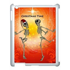 Dancing For Christmas, Funny Skeletons Apple iPad 3/4 Case (White)