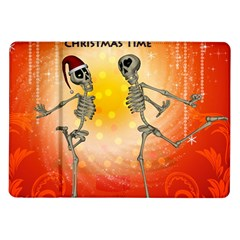 Dancing For Christmas, Funny Skeletons Samsung Galaxy Tab 10.1  P7500 Flip Case
