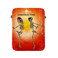 Dancing For Christmas, Funny Skeletons Apple iPad 2/3/4 Protective Soft Cases