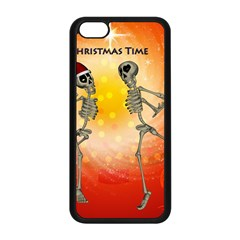 Dancing For Christmas, Funny Skeletons Apple iPhone 5C Seamless Case (Black)