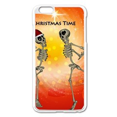 Dancing For Christmas, Funny Skeletons Apple iPhone 6 Plus/6S Plus Enamel White Case