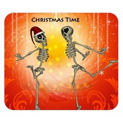 Dancing For Christmas, Funny Skeletons Double Sided Flano Blanket (small)