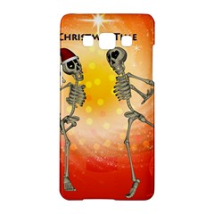Dancing For Christmas, Funny Skeletons Samsung Galaxy A5 Hardshell Case