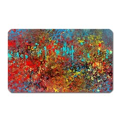 Abstract in Red, Turquoise, and Yellow Magnet (Rectangular)