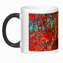 Abstract In Red, Turquoise, And Yellow Morph Mugs