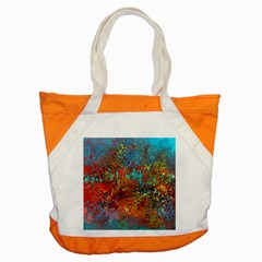 Abstract In Red, Turquoise, And Yellow Accent Tote Bag