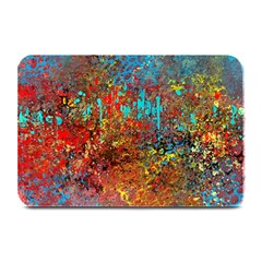Abstract in Red, Turquoise, and Yellow Plate Mats