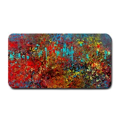 Abstract In Red, Turquoise, And Yellow Medium Bar Mats
