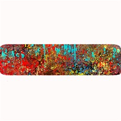 Abstract in Red, Turquoise, and Yellow Large Bar Mats
