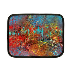 Abstract in Red, Turquoise, and Yellow Netbook Case (Small)