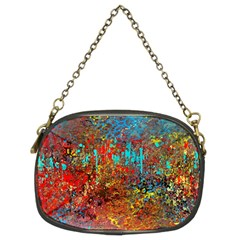 Abstract in Red, Turquoise, and Yellow Chain Purses (Two Sides)