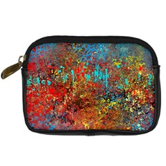 Abstract In Red, Turquoise, And Yellow Digital Camera Cases