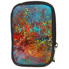 Abstract in Red, Turquoise, and Yellow Compact Camera Cases