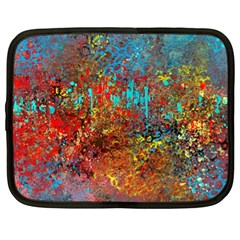 Abstract In Red, Turquoise, And Yellow Netbook Case (xl)
