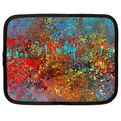Abstract in Red, Turquoise, and Yellow Netbook Case (XXL)