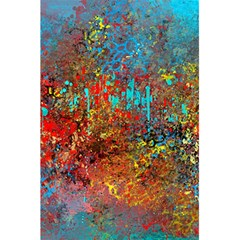 Abstract in Red, Turquoise, and Yellow 5.5  x 8.5  Notebooks