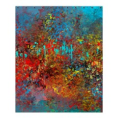 Abstract In Red, Turquoise, And Yellow Shower Curtain 60  X 72  (medium)