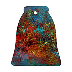 Abstract in Red, Turquoise, and Yellow Bell Ornament (2 Sides)