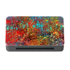Abstract In Red, Turquoise, And Yellow Memory Card Reader With Cf