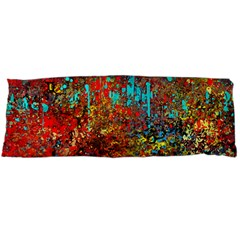 Abstract in Red, Turquoise, and Yellow Body Pillow Cases (Dakimakura)