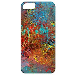 Abstract In Red, Turquoise, And Yellow Apple Iphone 5 Classic Hardshell Case