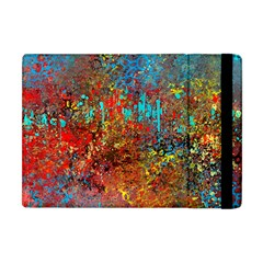 Abstract in Red, Turquoise, and Yellow Apple iPad Mini Flip Case