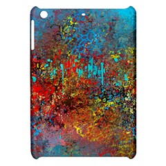 Abstract in Red, Turquoise, and Yellow Apple iPad Mini Hardshell Case