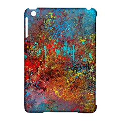 Abstract In Red, Turquoise, And Yellow Apple Ipad Mini Hardshell Case (compatible With Smart Cover)