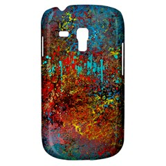 Abstract in Red, Turquoise, and Yellow Samsung Galaxy S3 MINI I8190 Hardshell Case