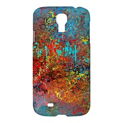 Abstract in Red, Turquoise, and Yellow Samsung Galaxy S4 I9500/I9505 Hardshell Case