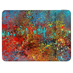 Abstract In Red, Turquoise, And Yellow Samsung Galaxy Tab 7  P1000 Flip Case