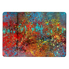 Abstract In Red, Turquoise, And Yellow Samsung Galaxy Tab 10 1  P7500 Flip Case