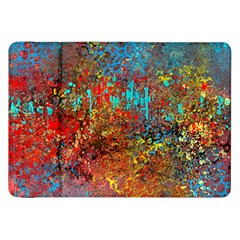 Abstract In Red, Turquoise, And Yellow Samsung Galaxy Tab 8 9  P7300 Flip Case