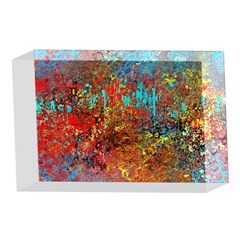 Abstract in Red, Turquoise, and Yellow 4 x 6  Acrylic Photo Blocks