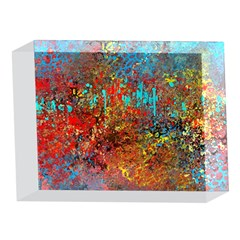 Abstract in Red, Turquoise, and Yellow 5 x 7  Acrylic Photo Blocks