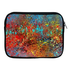 Abstract In Red, Turquoise, And Yellow Apple Ipad 2/3/4 Zipper Cases