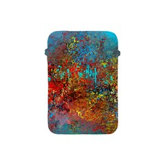 Abstract In Red, Turquoise, And Yellow Apple Ipad Mini Protective Soft Cases