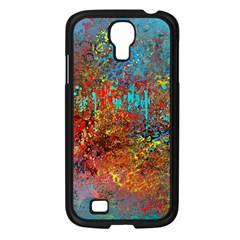 Abstract In Red, Turquoise, And Yellow Samsung Galaxy S4 I9500/ I9505 Case (black)
