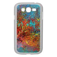 Abstract in Red, Turquoise, and Yellow Samsung Galaxy Grand DUOS I9082 Case (White)