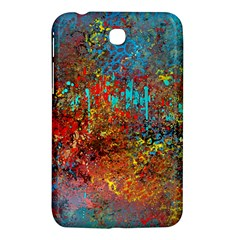 Abstract In Red, Turquoise, And Yellow Samsung Galaxy Tab 3 (7 ) P3200 Hardshell Case
