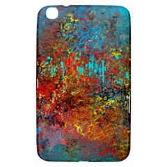 Abstract in Red, Turquoise, and Yellow Samsung Galaxy Tab 3 (8 ) T3100 Hardshell Case